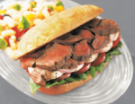 Sandwich Made With Sirloin Strip Slices