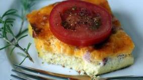 Ham and Cheese Strata