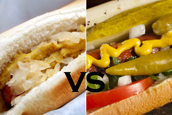 Chicago Hot Dog Vs New York